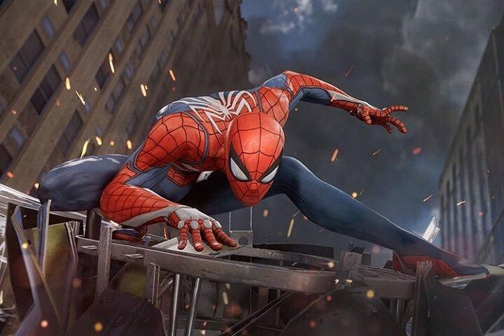 spider man مرد عنکبوتی در ژست