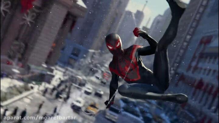 spider man مرد عنکبوتی در آسمان شهر