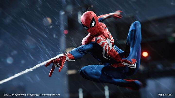 spider man مرد عنکبوتی درحال تار زدن