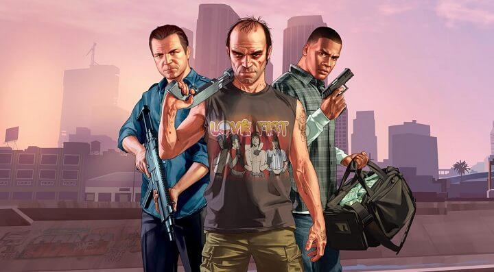 GTA v سه شخصیت اصلی بازی