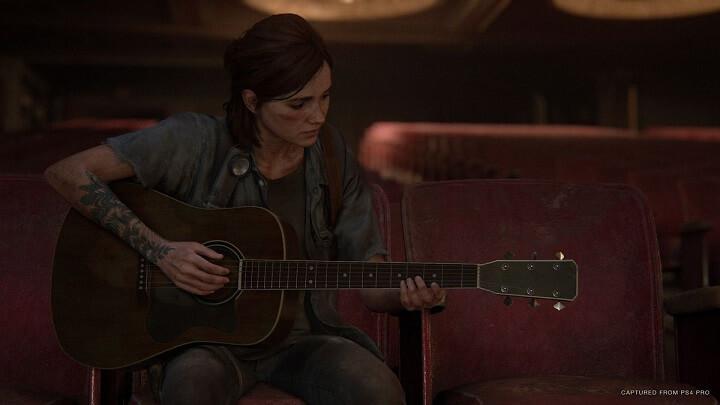 the last of us 2 در حال گیترا زدن
