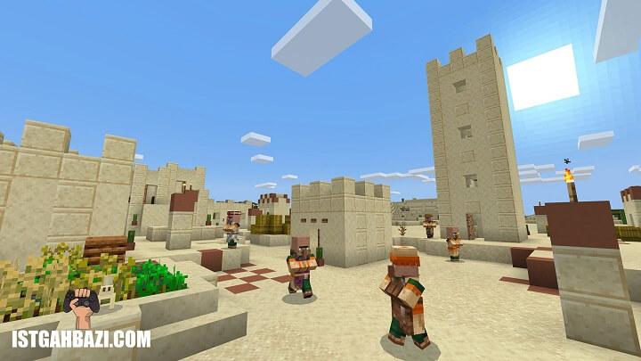 آدمک های minecraft-scene در قلعه