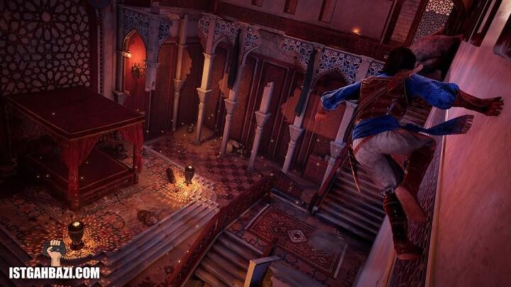 دویدن پرنس روی دیوار قصر