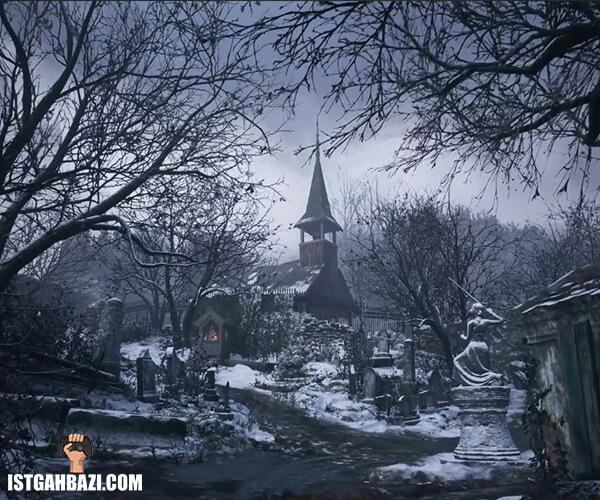 دهکده پوشیده شده از برف در بازی رزیدنت اویل 8