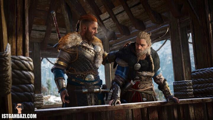 شخصیت Eivor در بازیAssassin's Creed Valhalla درحال سفر به بریتانیا