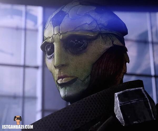 عکس یکی از شخصیت های فضایی بازی Mass Effect Legendary Edition